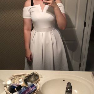 Dresses & Skirts - Off shoulders white dress NWT